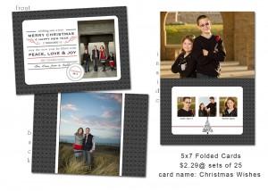 5x7 folded Christmas card